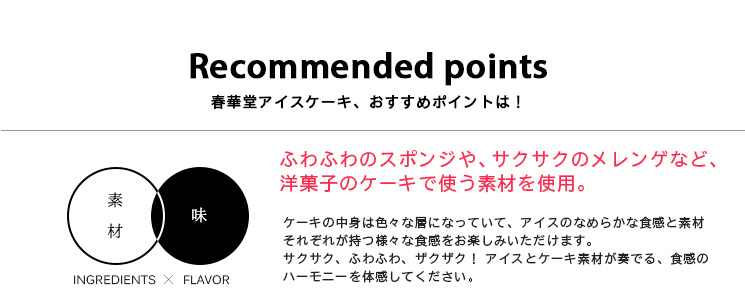 Recommended points春華堂アイスケーキ、おすすめポイントは!